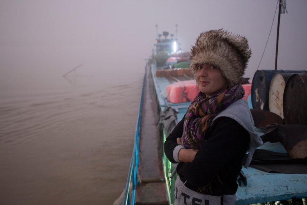 Me on a boat in the mist